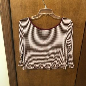 Charlotte Rouse striped crop top